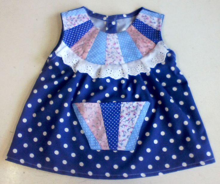 Vestido de patchwork de https://www.facebook.com/katiuka.taller