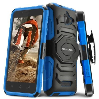 EVOCEL Rugged Armor Holster Coolpad Catalyst Case - Blue