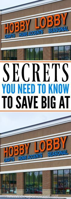How to Save Money at Hobby Lobby - Here are 12 ways to save money the next time you are shopping at Hobby Lobby. Here are money saving tips you need to know