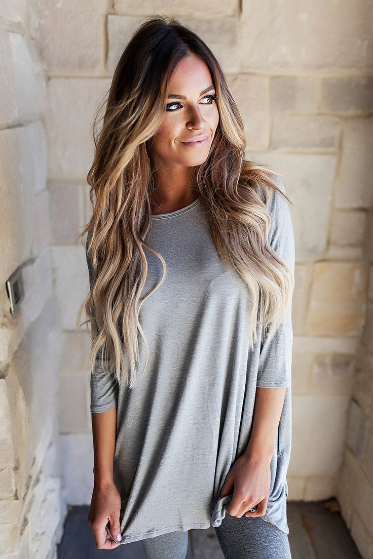 Side Pocket Dolman Top- Grey - Dottie Couture Boutique