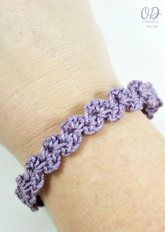This is my favorite bracelet pattern - it works up in less than 15 minutes and can be crocheted to any size easily. This free pattern will explain how you can make one too!