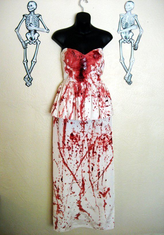 Style white dress halloeen