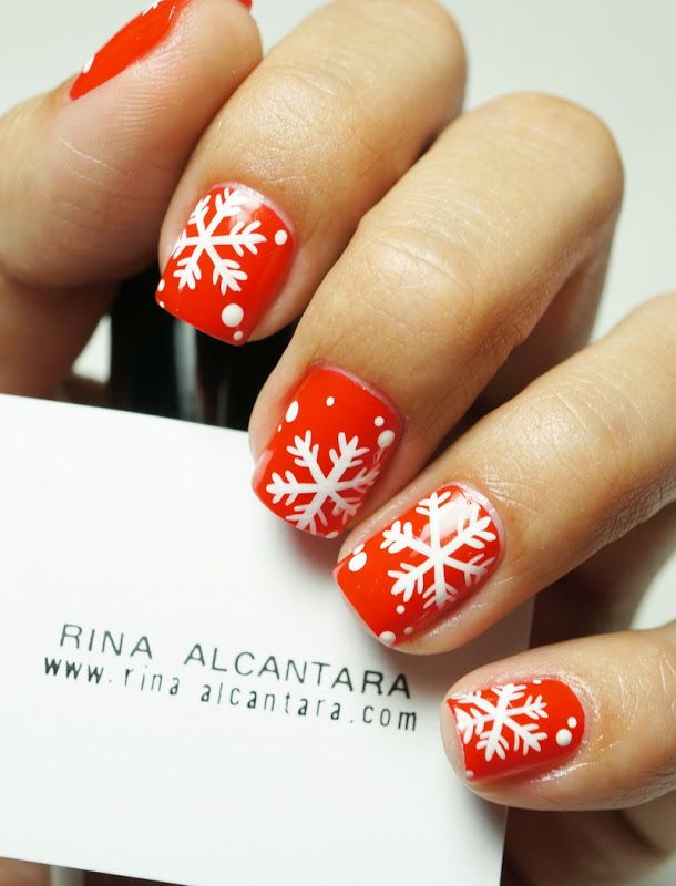 """""""It's a Red Christmas"""" Nail Art Contest   Simply Rins"""