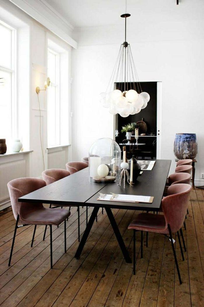 moderne sthle esszimmer groer esstisch dielenboden lampesstisch - Luxus Hausrenovierung Perfektes Wohnzimmer Stuhle Design