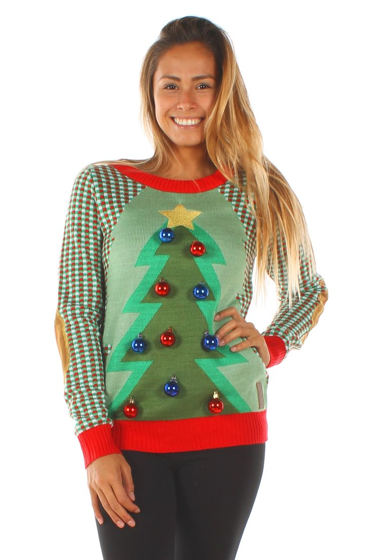 Keep a festive Christmas spirit with you at all times with our Christmas Tree sweater.
