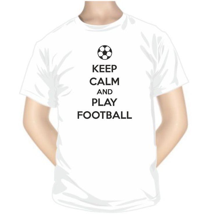 Tee shirt original: Keep Calm and play FOOTBALL - Sport - SiMedio