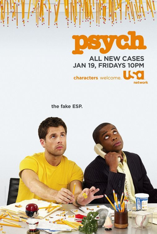 Psych. One of the best comedies on TV today, in my humble opinion.
