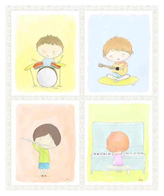 15% off Printable Nursery Art'Music by LittleYellowDaisiess