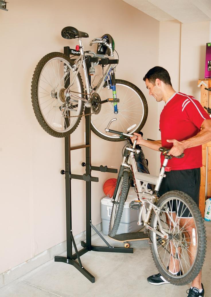 Thule 5781 Bike Stacker http://www.roofracks.co.uk/Thule-Products/Bike-Cycle-Carriers/Bike-Stacker-BSTK2-5781/#.UXUoqLXvt8G