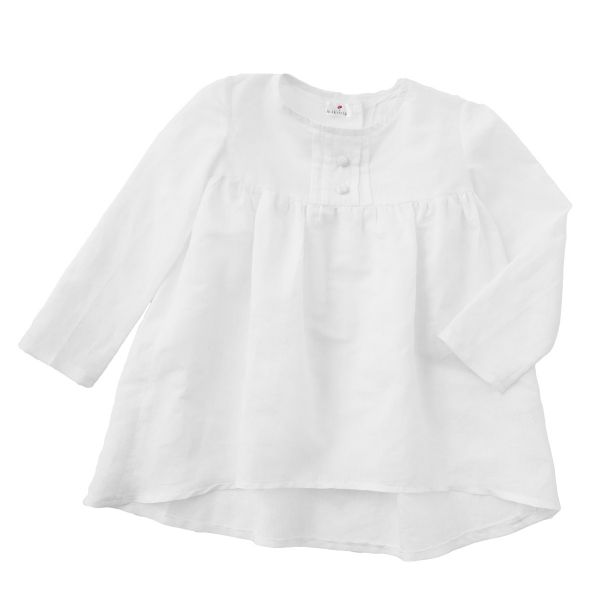 Mákvirág — Pintuck blouse snow white