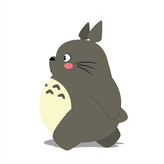 Adorable Illustrated GIFs Of Totoro Doing Yoga, Jogging, Exercising - DesignTAXI.com