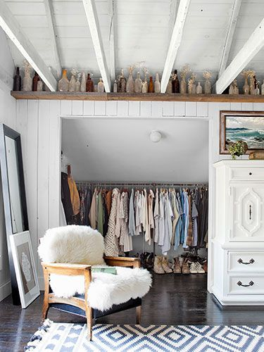 Line the Walls...This closet would look good with a big sliding barn type door to cover the opening...