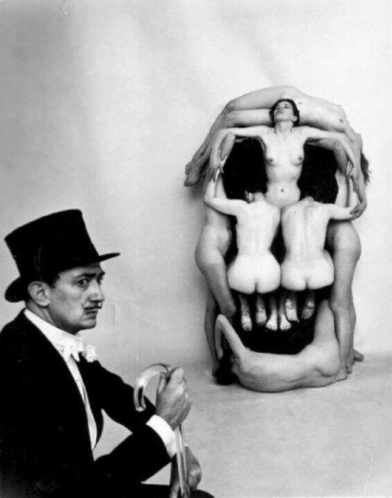 Skull of Women by Dali