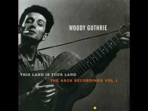 """Top Ten Woody Guthrie  This Saturday, the legendary populist troubadour Woody Guthrie would have turned 100. Guthrie, best known for his iconic song """"This Land Is Your Land,"""" has had as profound an influence as perhaps any musician in US, and perhaps world, history."""