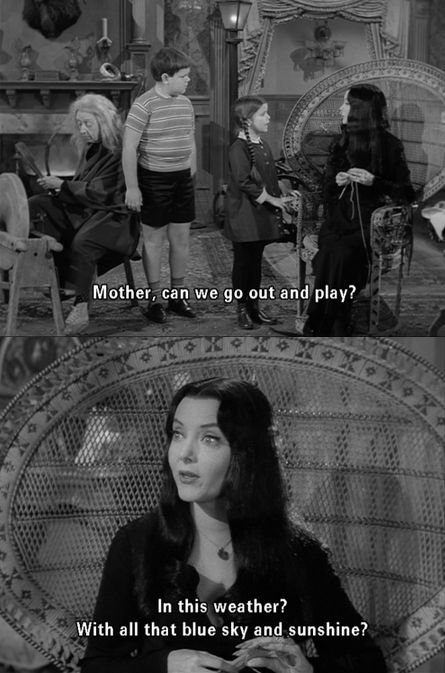 """The Addams Family - """"Mother, can we go out and play?"""""""