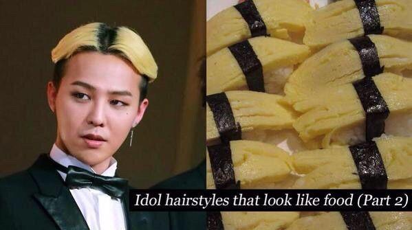 髪型がお寿司の「たまご」な奴がいる
