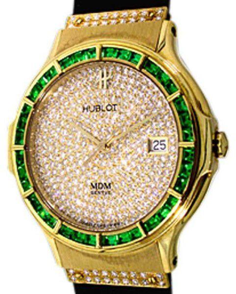 Hublot Green Gemstones Diamond Watch Hublot Watches