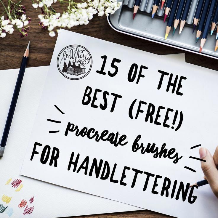 Free Procreate Brushes Digital Handlettering Modern