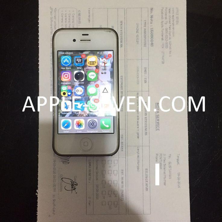 iPhone 4S layar blank hitam ada suara dan getar atas nama Bapak Gustiawan | Apple Pontianak