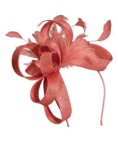 Another great find on #zulily! Coral Ribbon Fascinator #zulilyfinds