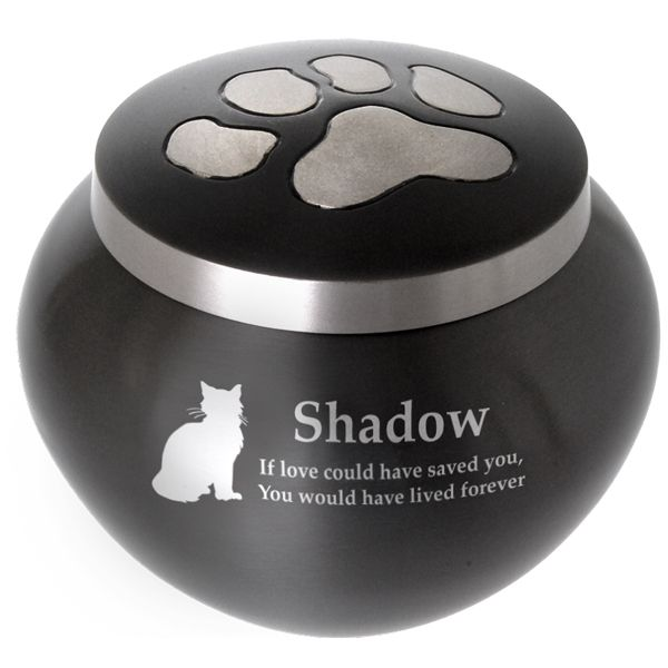 Pet Cremation Urn: Cat Pawprint