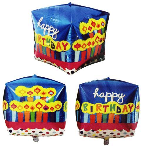 Happy Birthday Puanlı Küp Folyo Balon