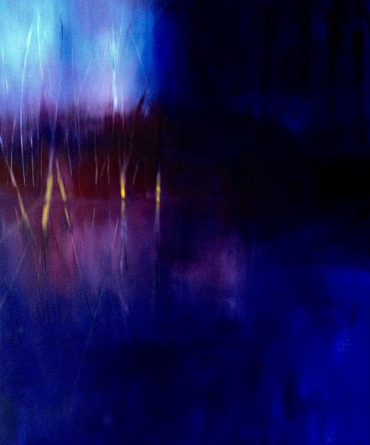 "Patrizia Biaducci, olio su tela nov. 2014 titolo: ""Profondo blu 2"""
