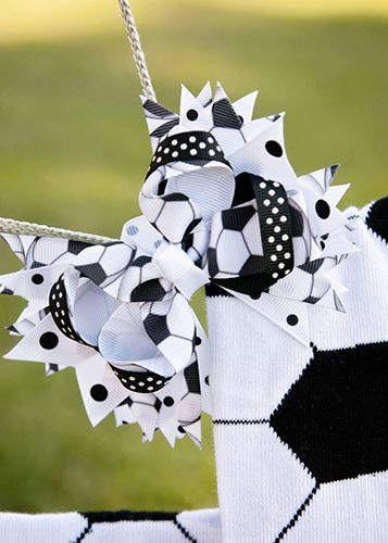 The Hair Bow Company | Soccer Hair Bow