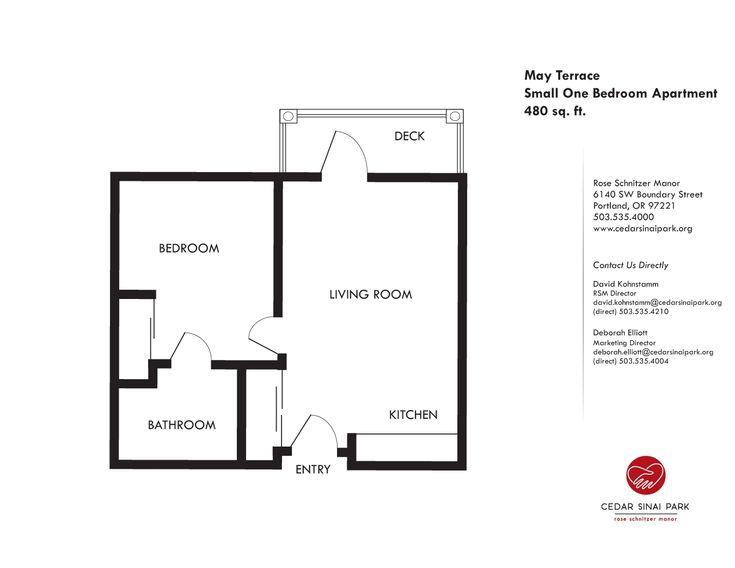 Small Apartment Floor Plans 1 Bedroom