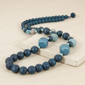 Long Bead and Pod Necklace