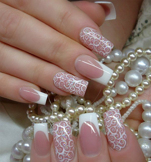 dezentes glitzern nageldesign