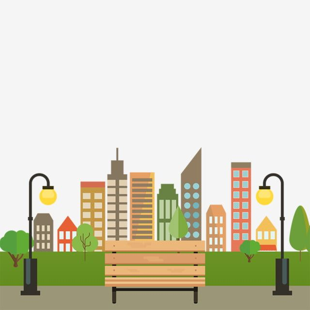 Colorful Building City With Bench Vector Png City With Benches City Building Vector City Png Transparent Clipart Image And Psd File For Free Download Colourful Buildings City Vector Colorful Backgrounds