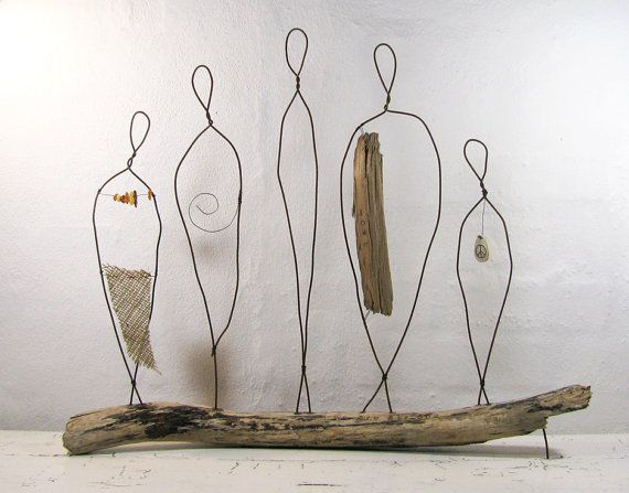 We Are All One Wire Sculpture Rustic Metal and by idestudiet, Denmark.