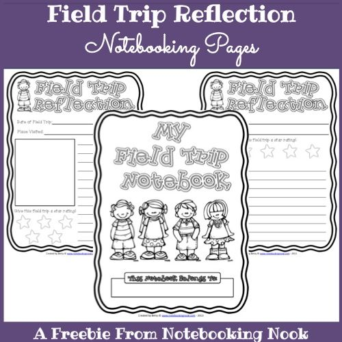 freebies field trip reflection notebooking pages notebooking pinterest trips field trips. Black Bedroom Furniture Sets. Home Design Ideas