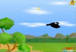 The thirsty crow flies home