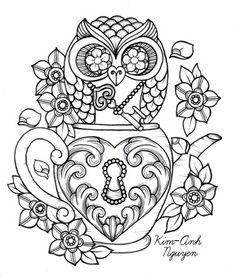 sugar skull printable coloring pages - Google Search