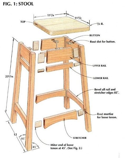 how to build wooden spa stool