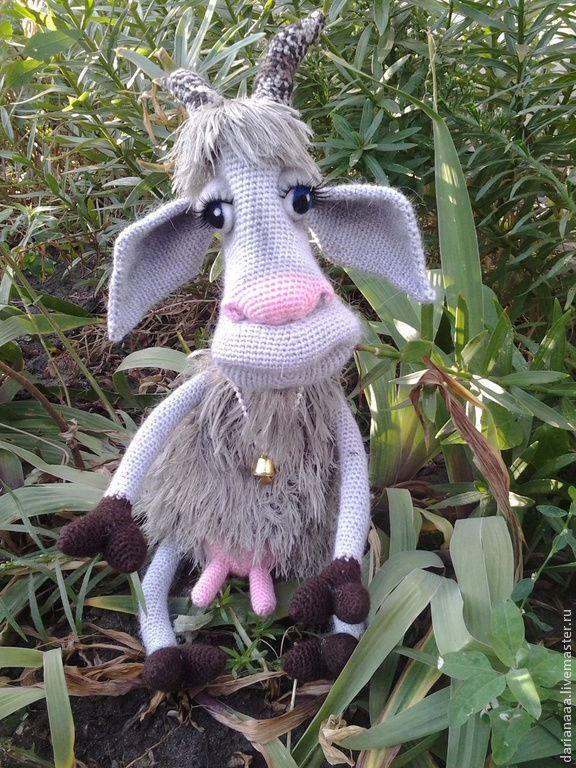 Купить Мастер-класс по вязанию - белый, мастер-класс, описание игрушки, коза