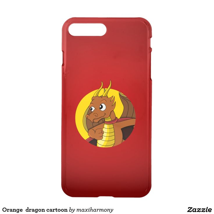 Orange  dragon cartoon iPhone 7 plus case