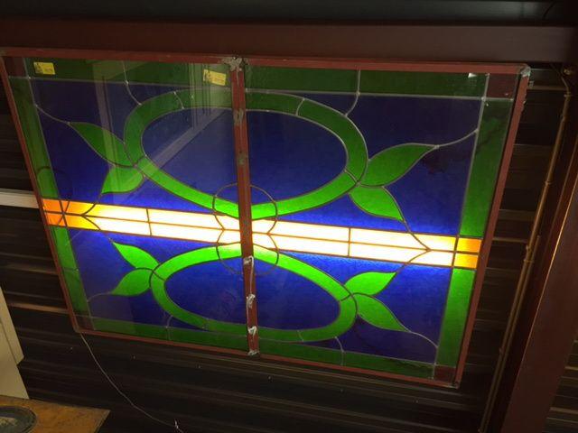 Glas in lood plafond (158x117 cm)   Stained Glass Ceiling   Plafonddecoratie   Plafondverlichting   Horeca Interieurbouw   Sijf & Dax van Zuilen   Oudewater