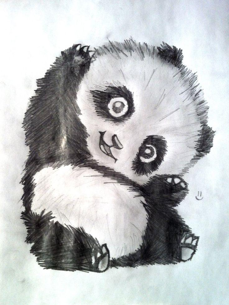 Cute Panda Drawings just a cute panda by lemur3817