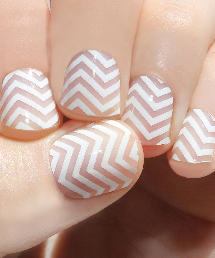 White Mini Chevron Nail Wraps - Set of Two | zulily
