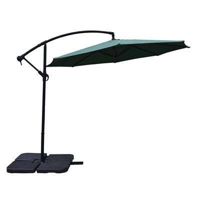 Oakland Living 4110 10-ft Cantilever Umbrella with Fillable Base Weights