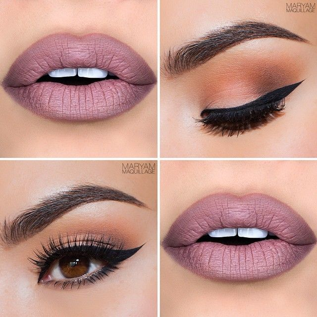 In this look she uses Makeup Geek's Beaches and Cream, Peach Smoothie, and Bada Bing eyeshadow… | make up to try | Makeu…