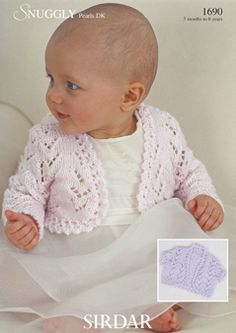 free knitting pattern for baby girl bolero - Google Search