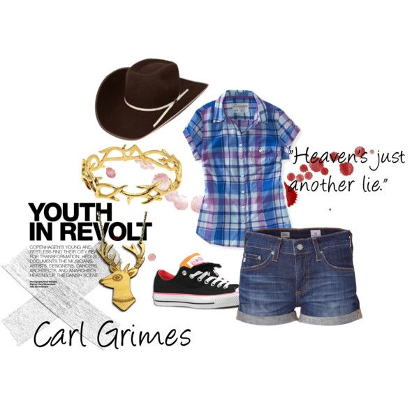 """""""The Walking Dead Character Sets- Carl Grimes"""" by slimchance on Polyvore"""