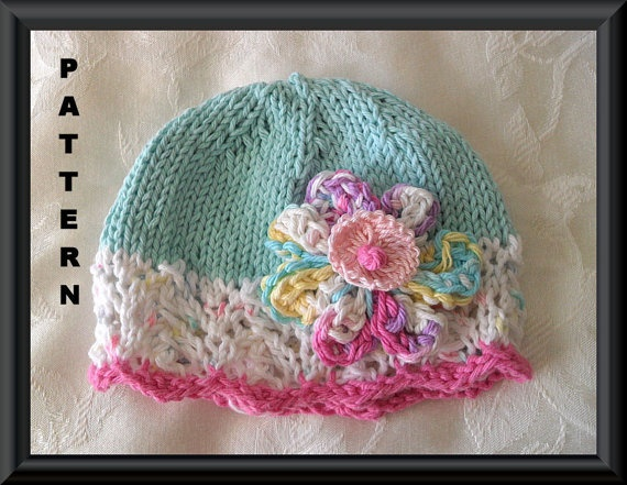 Free Knitting Pattern Baby Flower Hat : 81 best images about Knitted Hats on Pinterest Free pattern, Knit baby hats...