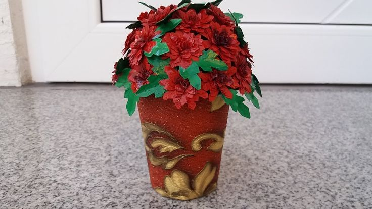 Reciclare-ghiveci cu crizanteme ,   Recycling-pots with chrysanthemums
