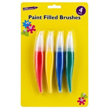 4 Pre-filled Paint Brushes