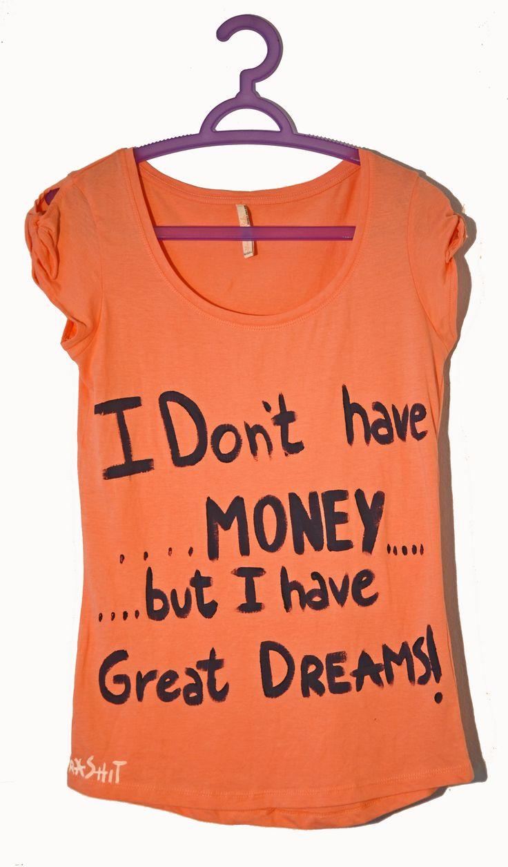 t-shirt donna dipinta a mano, unica. t-shirt: Trashit